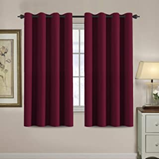 H.VERSAILTEX Blackout Curtains for Living Room/Bedroom Ultra Soft and Smooth Thermal Insulated Grommet Red Blackout Curtains for Christmas, 52 by 63 inch Long - Single Panel
