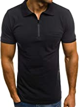 iYYVV Fashion Personality Men's Casual Slim Short Sleeve Pockets T Shirt Top Blouse