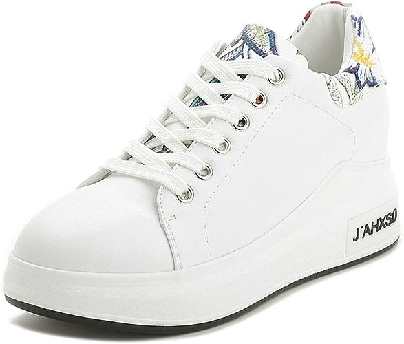 GTVERNH-Chaussures pour Femmes Le Printemps Et L'été De La Littérature Et De l'art des Chaussures Blanches Chaussures De Sport des Chaussures De Femme.