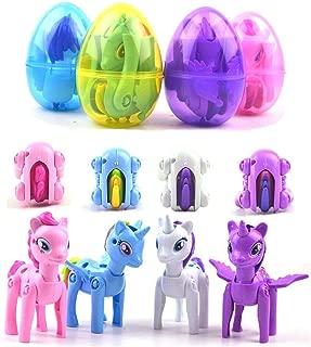 QINGQIU 4 Pack Unicorn Toys Jumbo Unicorn Deformation Easter Eggs for Girls Boys Kids Christmas Stocking Stuffers Unicorn Gifts Party Supplies Favors