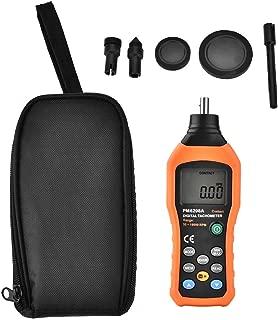 Tachometer,PEAKMETER PM6208A Handheld Contact-Type Digital Tachometer Meter Motor Speed Gauge Tester 50RPM-19999RPM Motor Speed Tester LCD Backlight Display Accuracy:± (0.03% + 2)