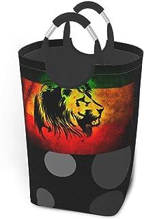 N\A Reggae Rasta Lion Paniers de Rangement Panier à Linge Sale Flexible Sac Organisateur écologique Sac de trieur Amovible...