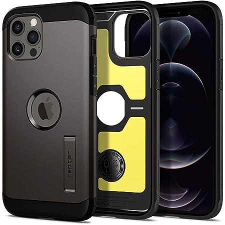 Spigen iPhone 12 Pro Max ケース 6.7インチ 対応 米軍MIL規格取得 耐衝撃 三層構造 スタンド付き スマホスタンド カメラ保護 傷防止 衝撃吸収 タフ・アーマー ACS01709 (ガンメタル)