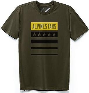 Alpinestars Unisex-Adult National Tee - Military (2X) (Multi, One Size)
