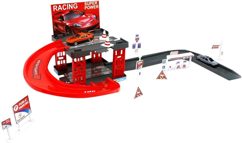 Little Treasures Toy, 2-Level Parking Garage Play Set