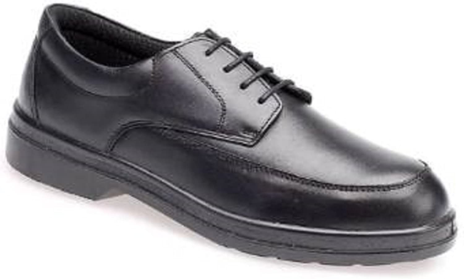 Capps LH700 High Quality Black Leather Mudguard Safety shoes With Comfort Lining (UK 11 EURO 46)