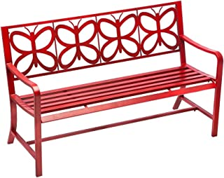 Best red metal butterfly bench Reviews