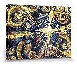 1art1 Doctor Who - Explodierende Tardis Poster Leinwandbild