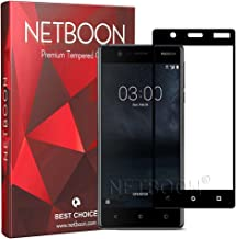 NETBOON® Premium Quality 3D Tempered Glass Screen Protector Full Edge to Edge Cover Anti Finger Print Screen Guard for Nokia 3