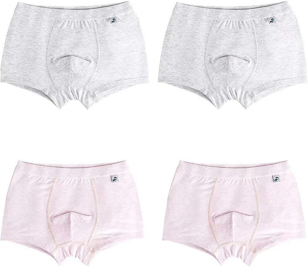 Wxian Boys 4 Pack Underwear Cotton Breathable Boxer Briefs