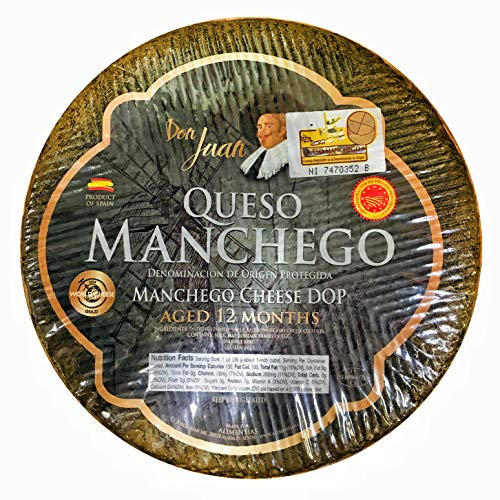 Don Juan Manchego Wheel cheese Aged 12 months ~ 6.5lb to 6.8lb