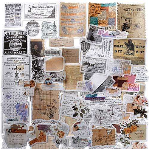 120 Pegatinas Vintage Stickers Scrapbooking Manualidades Bullet Journal Álbum Fotos Agenda Adhesivos DIY Decoración Álbumes de Recortes Calendarios Tarjetas Sobres Regalos (estilo 3)