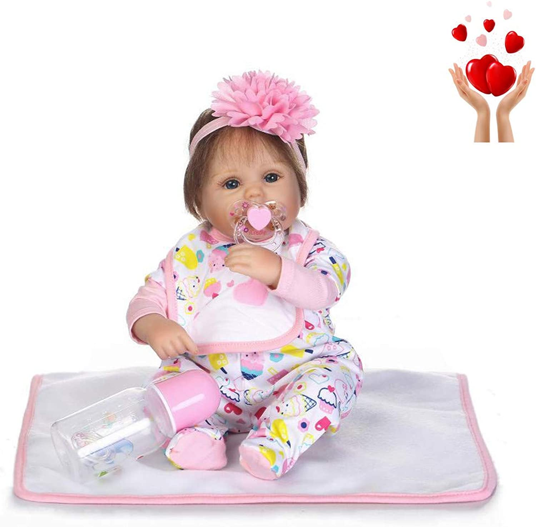 WSSB 42CM Handmade Silicone vinyl adorable Lifelike Toddler Reborn Baby