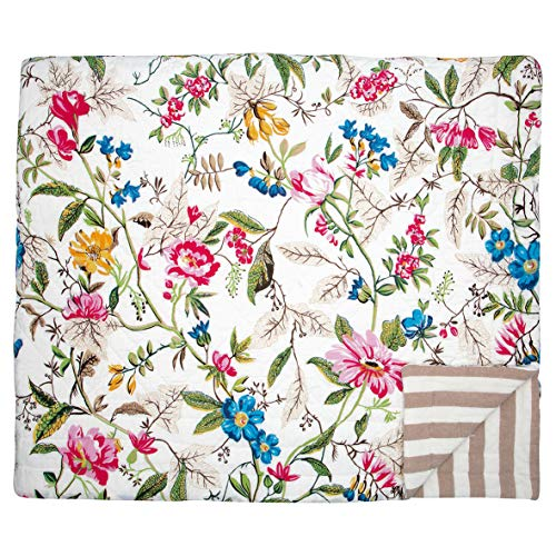 GreenGate Quilt Ellen White - Tagesdecke - 140 x 220 cm - Blumen / geblümt