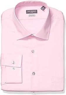 Van Heusen Men's Dress Shirt Flex Regular Fit Solid, Pink...