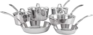 Viking Contemporary 3-Ply Stainless Steel Cookware Set, 10 Piece