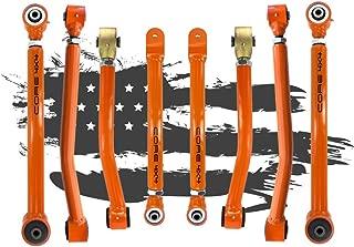Wrangler JK 2007-2018 Complete Control Arm Set TIER TWO, Charcoal LIFETIME REPLACEMENT GUARANTEE