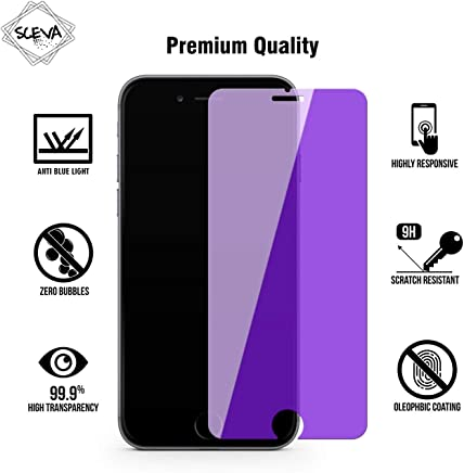 Sceva Present HD Clear Anti Blue Tempered Glass Screen Protector for iPhone 6/6s (Anti Blue)