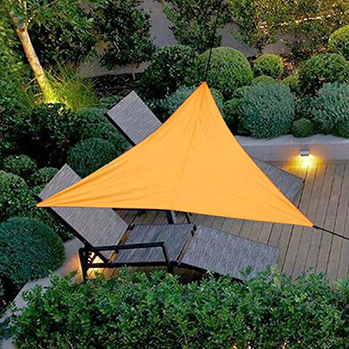Bluelliant Toldo a Vela Exterior Triangular Camping De Playa Horizontal Impermeable Jardín Sombra Universal Terraza, Naranja