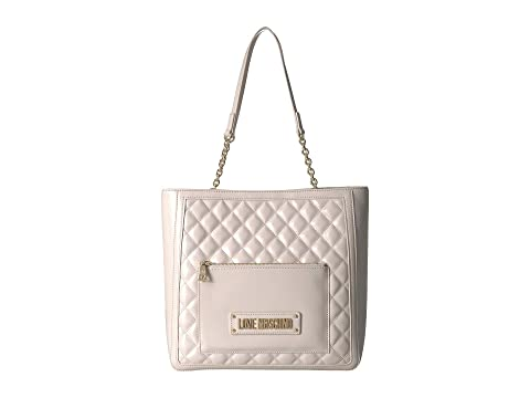 LOVE Moschino Shinny Quilted Tote