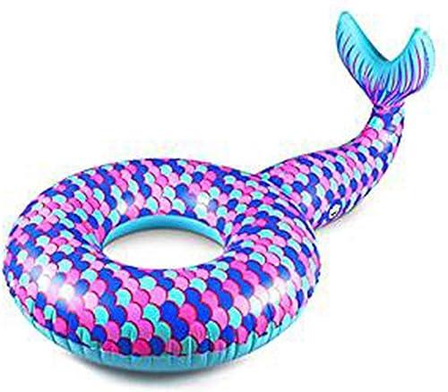 Schwimmring aufblasbare Meerjungfrau Schwimmring Pool Schwimmen Wasser Spaß Sommer Strand Spielzeug Erwachsene Kinder