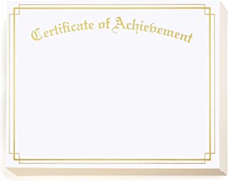 PaperDirect Achievement Gold Foil Border Specialty Certificates, 8 1/2 inch x 11 inch, 38lb White Stock, 50 Count