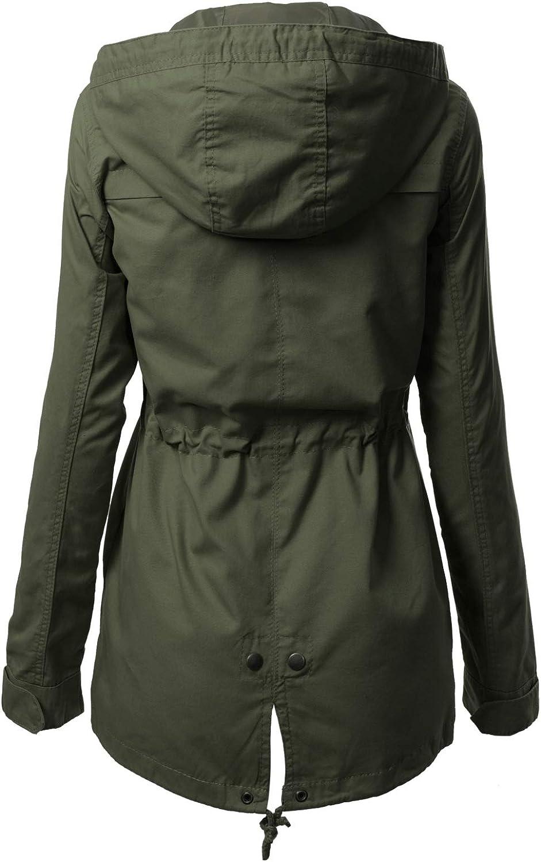 Design by Olivia Women's Military Anorak Safari Hoodie Jacket