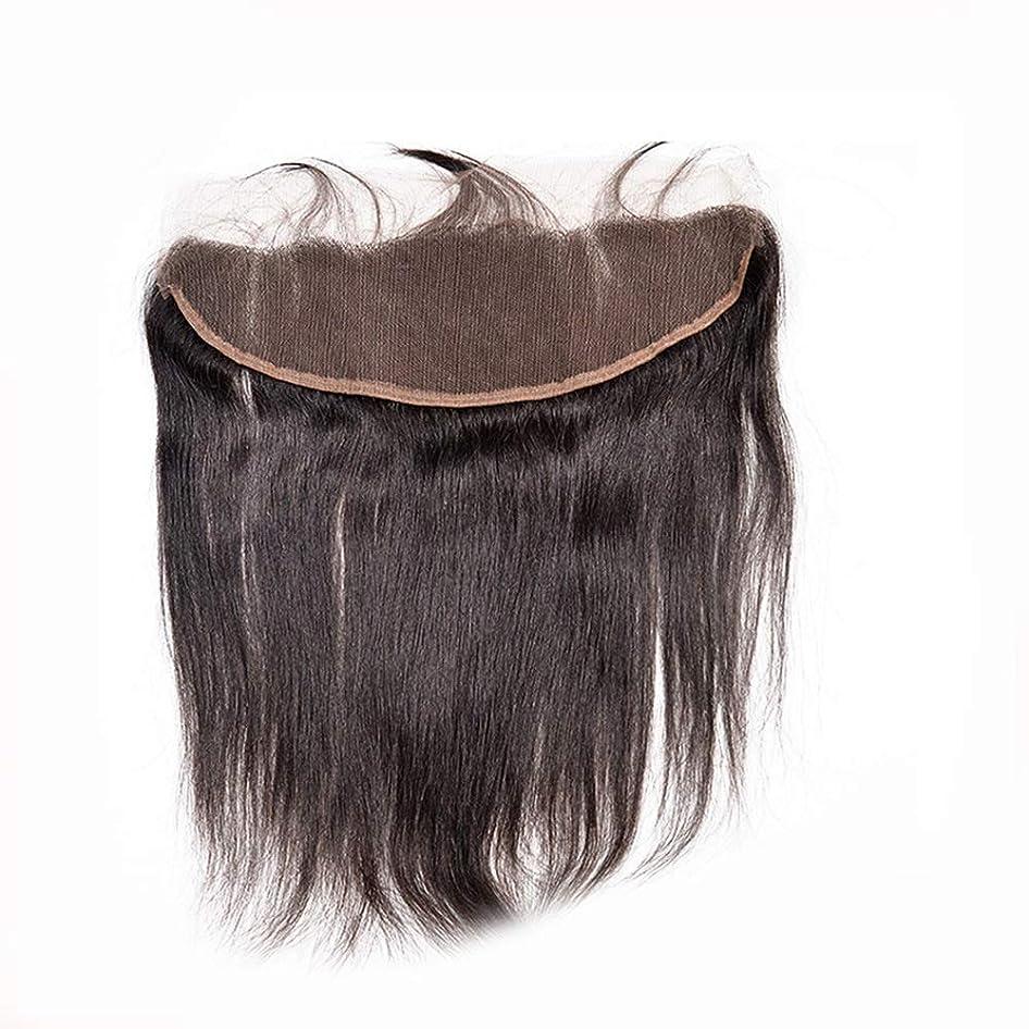 マナー元の事務所Yrattary リアルヘアウィッグ人毛ナチュラルカラーヘアピース複合ヘアレースウィッグロールプレイングウィッグ (色 : 黒, サイズ : 10 inch)