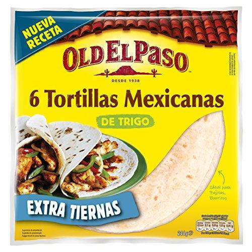 OLD EL PASO tortillas de trigo bolsa 6 unidades 244 gr