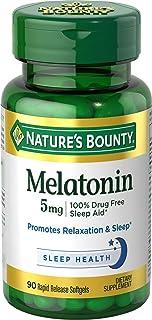 Nature's Bounty Melatonin 5mg, 90 Softgels (Pack of 3)