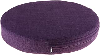 F Fityle Round Awaken Meditation Cushion Yoga Cushions Chair Mats Filled with Anti-Friction EPE Removable
