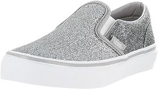 Vans Kids Classic Slip-On (Shimmer) Silver Skate Shoe 10.5 Kids US cc5613d78
