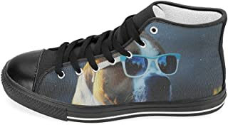 Custom American Pit Bull Terrier Mens High Top Canvas Shoes Fashion Sneaker