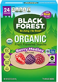 Black Forest Organic Fruit Snacks, Berry Medley, 0.8 Ounce, Pack of 24