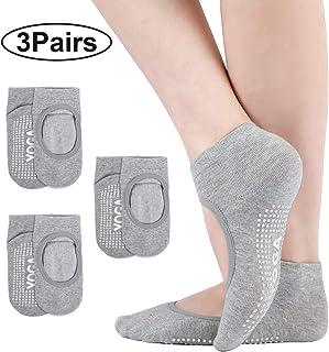 Bezioner, Calcetines de Yoga Deporte Antideslizantes para Mujer para Pilates, Yoga, Barre, Ballet, Danza