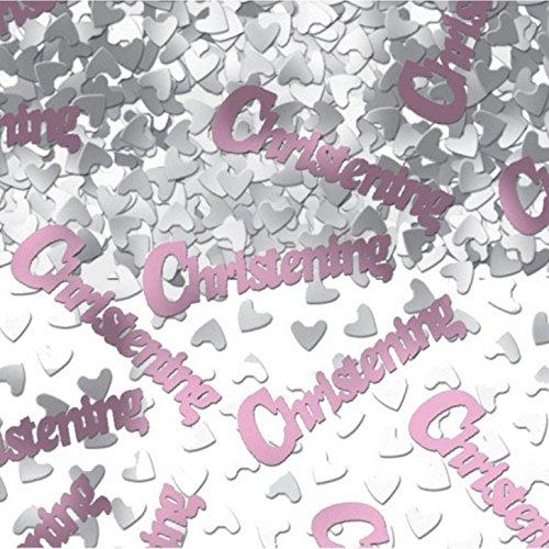 Amscan International Confettis pour baptême Rose 14 g