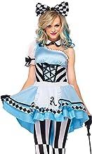LEG AVENUE(レッグアベニュー) Psychedelic Alice エプロンドレス チョーカー ヘッドセット コスチューム ブルー/ブラック レディース Sサイズ