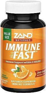 Zand Immune Fast Chews | Boosts Immune Response & Cell Activity w/EpiCor* & Vitamin C (Orange, 36 Count)