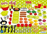 Jouets Ecoiffier – 2659 - Coffret dînette 100 % Chef Multicolore – Vaisselle, Ustensiles de...