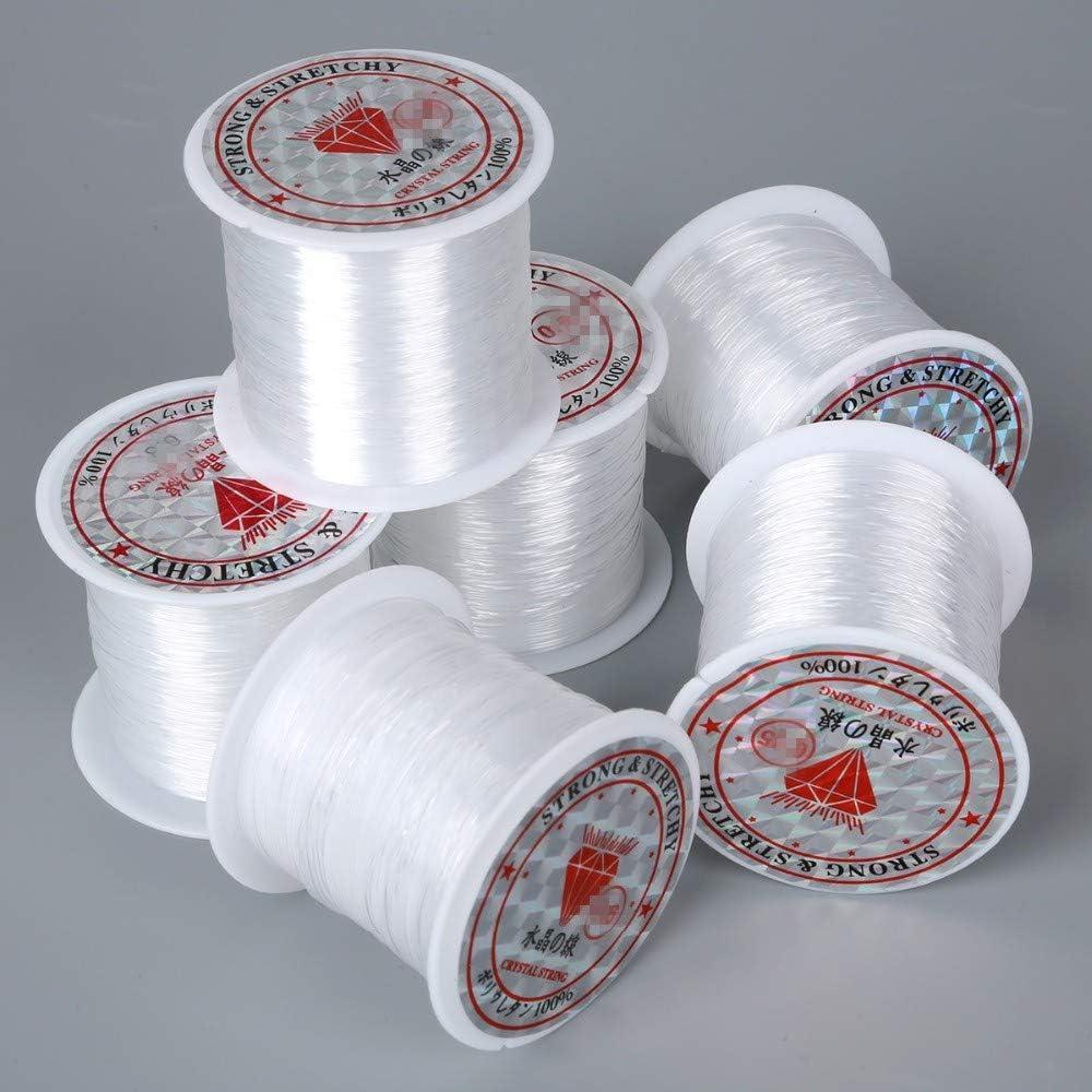 ZHONGJIUYUAN 35% OFF 6 Piece 50m Roll Nylon New color Stri Elastic Crystal Stretch
