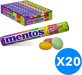 Mentos Candy Rainbow - 14 Pieces per Roll (Pack of 20 Rolls)