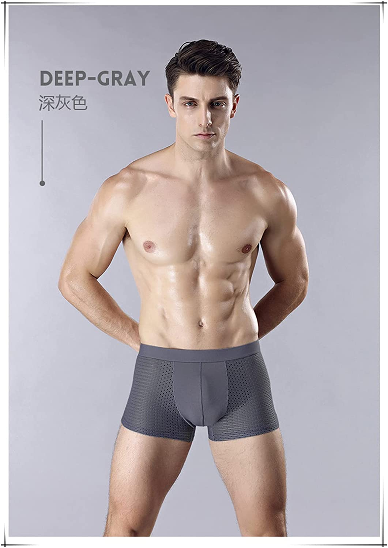 4Pcs/Lot Mens Underwear Boxers Soft Boxer Panties Comfortable Mesh Boxer Shorts