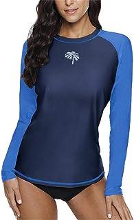8b098093a3 BesserBay Rash Guard for Womens Long Sleeve Swim Shirt UPF 50+ Swimsuit Top