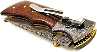 DKC Knives DKC-27-BM-DS-PC Wizard Pocket Clip Brown Micarta 7
