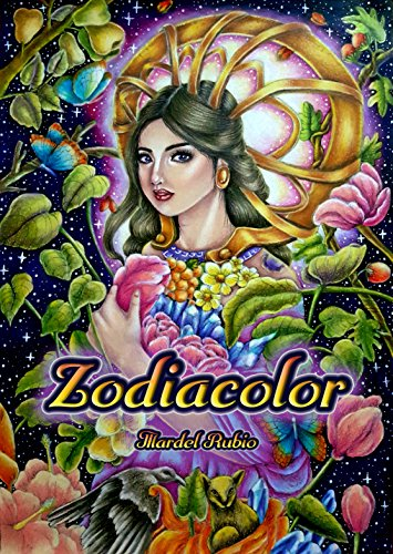Zodiacolor : Artist Edition Adult Coloring Book, single sided printing + 1 free mini poster