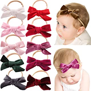 Baby Girl Headbands Newborn Infant Toddler Knotted Hairbands Bows Elastic Soft Floral Hair Band