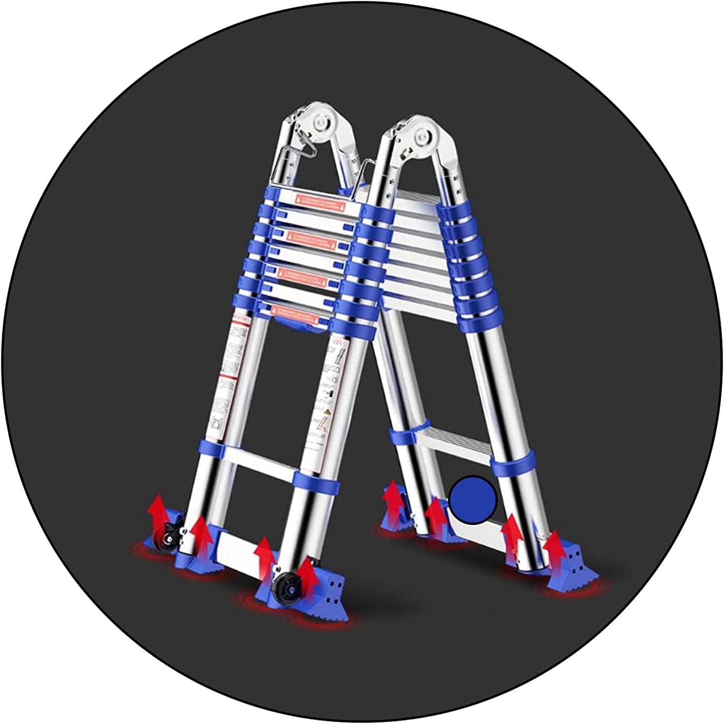 HBSC Telescopic Ladder Aluminum Philadelphia Mall Folding Alloy Extendabl Portable All stores are sold