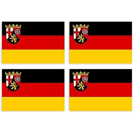 Kiwistar Aufkleber 4 5 X 3 2 Cm Thüringen Bundesland Autoaufkleber Deutschland Flagge Länder Wappen Fahne Sticker Kennzeichen Auto