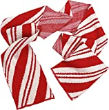 Green 3 Womens Recycled Cotton Sweater Knit Fashion Scarf One Size Peppermint Candy Cane