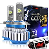 Win Power H4 LED Headlight Bulb Motorcycle 9003 CREE 70W 7200LM 6000K Cool White Dual High Low Beam Conversion Kit-2 Yr Warranty